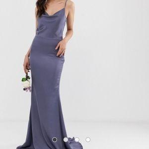Missguided Tall Satin Cowl Neck Maxi Dress
